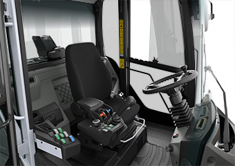 confort cabine chargeuse sur pneu