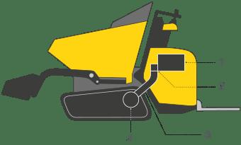 dumper chenille dt12 transmission aurama